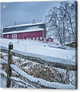 Carter Farm - Litchfield Hills Winter Scene Acrylic Print by Thomas Schoeller