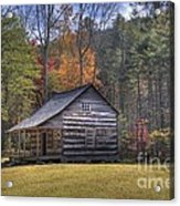 Carter-shields Cabin Acrylic Print by Crystal Nederman