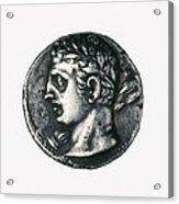 Carthaginian Coin. Minted In Spain Acrylic Print