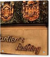 Cartier Jewellery Acrylic Print