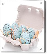 Carton Of Easter Eggs Acrylic Print by Amanda And Christopher Elwell