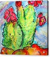 Cartoon Cactus Acrylic Print