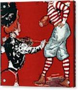 Cartoon Football, 1901 Acrylic Print