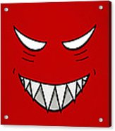 Cartoon Grinning Face With Evil Eyes Acrylic Print