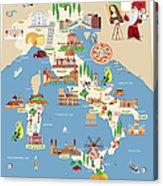 Cartoon Map Of Italy Acrylic Print