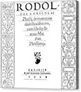 Cartouche, 1529 Acrylic Print