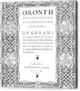 Cartouches, 1534 Acrylic Print