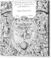 Cartouches, 1572 Acrylic Print