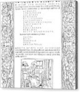 Cartouches, C1530 Acrylic Print