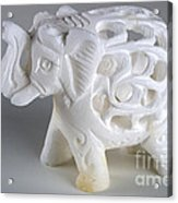 Carved Elephant Acrylic Print