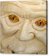 Carved Pumpkin Face Acrylic Print