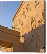 Carved Wall Of The Temple  Philae  Acrylic Print