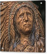 Carved Wooden Indian Acrylic Print