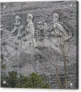 Carving Of Confederate Generals On Stone Mountain Acrylic Print