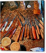 Carving Tools Of Pietro Picetti Acrylic Print