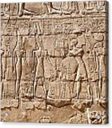 Carvings At The Temple Of Karnak Acrylic Print