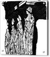 Caryatids In High Contrast Acrylic Print