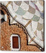 Casa Del Guarda Details In Park Guell Acrylic Print