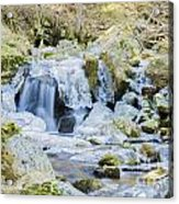 Cascade And Ice Acrylic Print