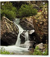 Cascade In Lower Ice Lake Basin Acrylic Print