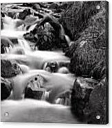 Water Fall In Slow Motion Acrylic Print