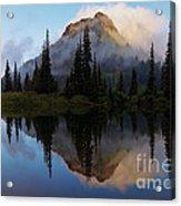 Cascade Mirror Acrylic Print by Mike  Dawson