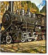 Cascade Mountain Train Acrylic Print