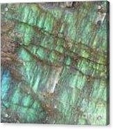 Cascade Of Green Acrylic Print