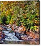 Cascade Of Water Acrylic Print