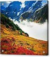 Cascade Pass Peaks Acrylic Print