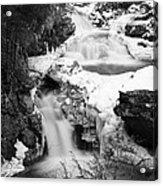 Cascades Of Velvet Acrylic Print by Luke Moore
