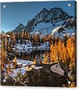 Cascades Ring Of Larches Acrylic Print by Mike Reid