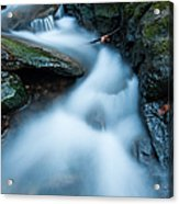 Cascades - Spruce Brook Twilight Acrylic Print