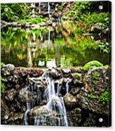 Cascading Waterfall And Pond Acrylic Print by Elena Elisseeva