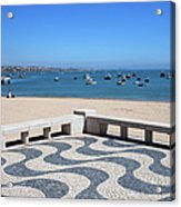 Cascais Promenade And Bay In Portugal Acrylic Print