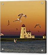 Cascumpec Lighthouse On Prince Edward Island Acrylic Print