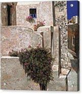 case a Santorini Acrylic Print