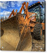 Case Backhoe Acrylic Print