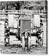 Case Tractor - Bw Acrylic Print