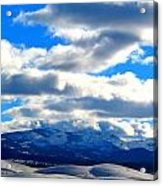 Casey And High Peaks In Winter Acrylic Print