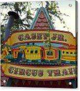 Casey Jr Circus Train Fantasyland Signage Disneyland Acrylic Print