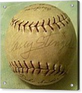 Casey Stengel Baseball Autograph Acrylic Print