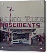 Casino Pier Amusements Seaside Heights Nj Acrylic Print by Joann Renner