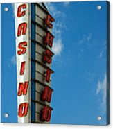 Casino Sign Acrylic Print