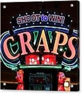 Casino Time Acrylic Print