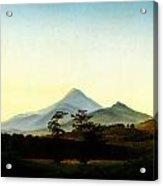 Caspar David Friedrich Bohmische Landschaft Acrylic Print