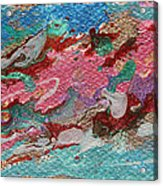 Caspian Sea Abstract Painting Acrylic Print by Julia Apostolova