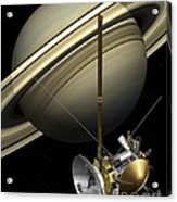 Cassini-huygens Probe And Saturn, Artwork Acrylic Print