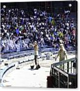 Cast Interacting With The Audience At The Waterworld Attraction Acrylic Print