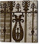 Cast Iron Fence Acrylic Print